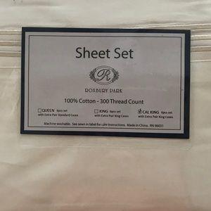 6-piece sheet set (Cal King, 100% cottton)
